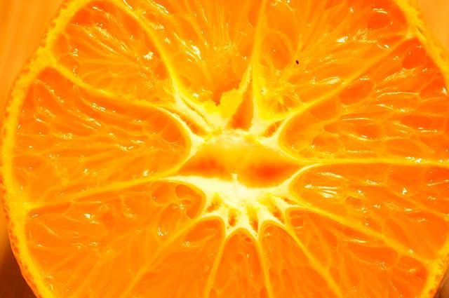 vertically cut orange free picture
