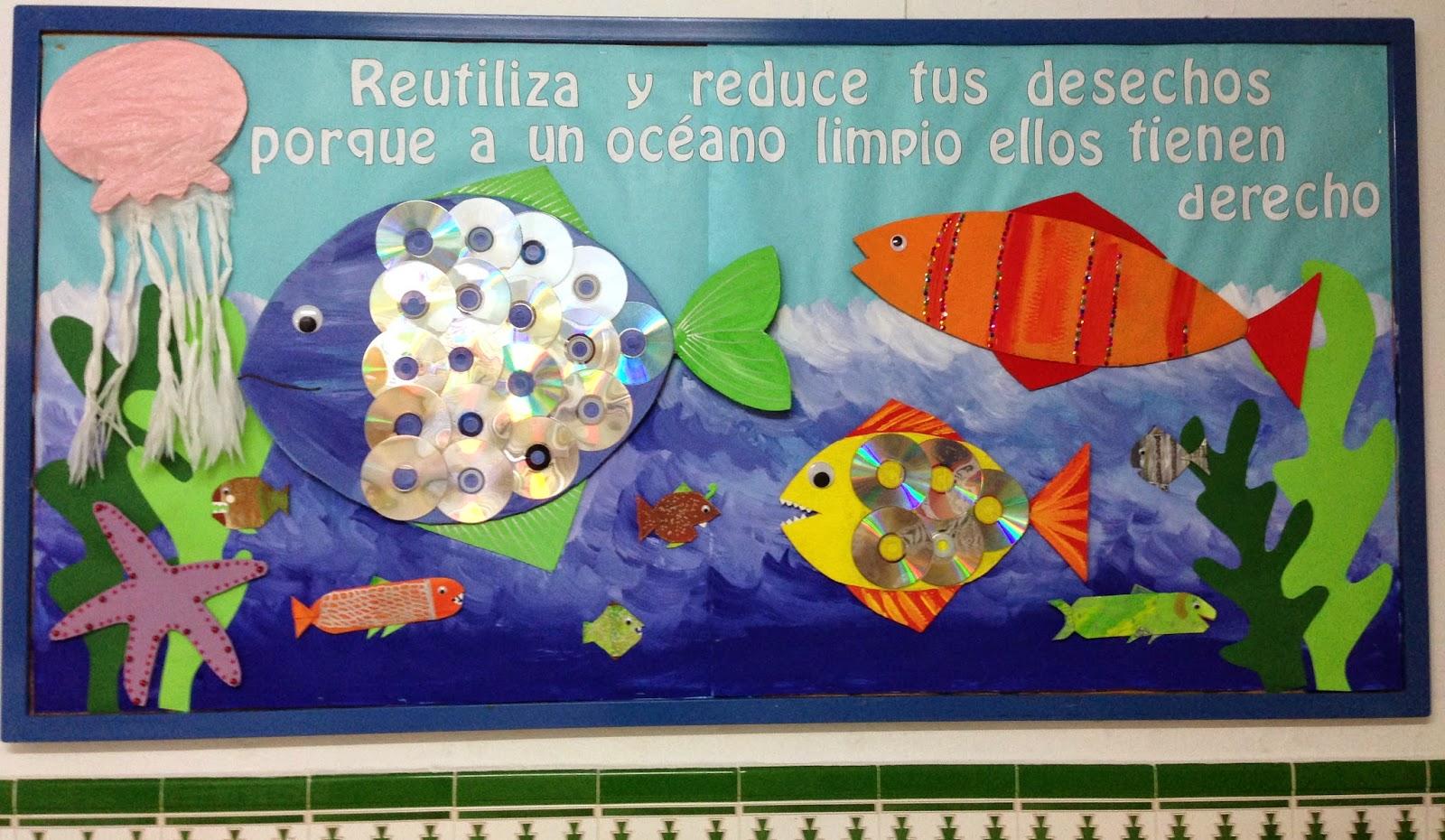 "Océano Pazífico: mural ""día mundial del agua"" (22 de marzo)"