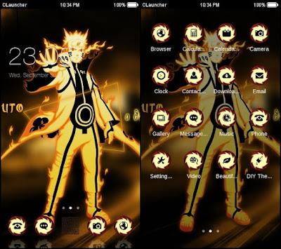 Kumpulan tema naruto untuk android terkeren