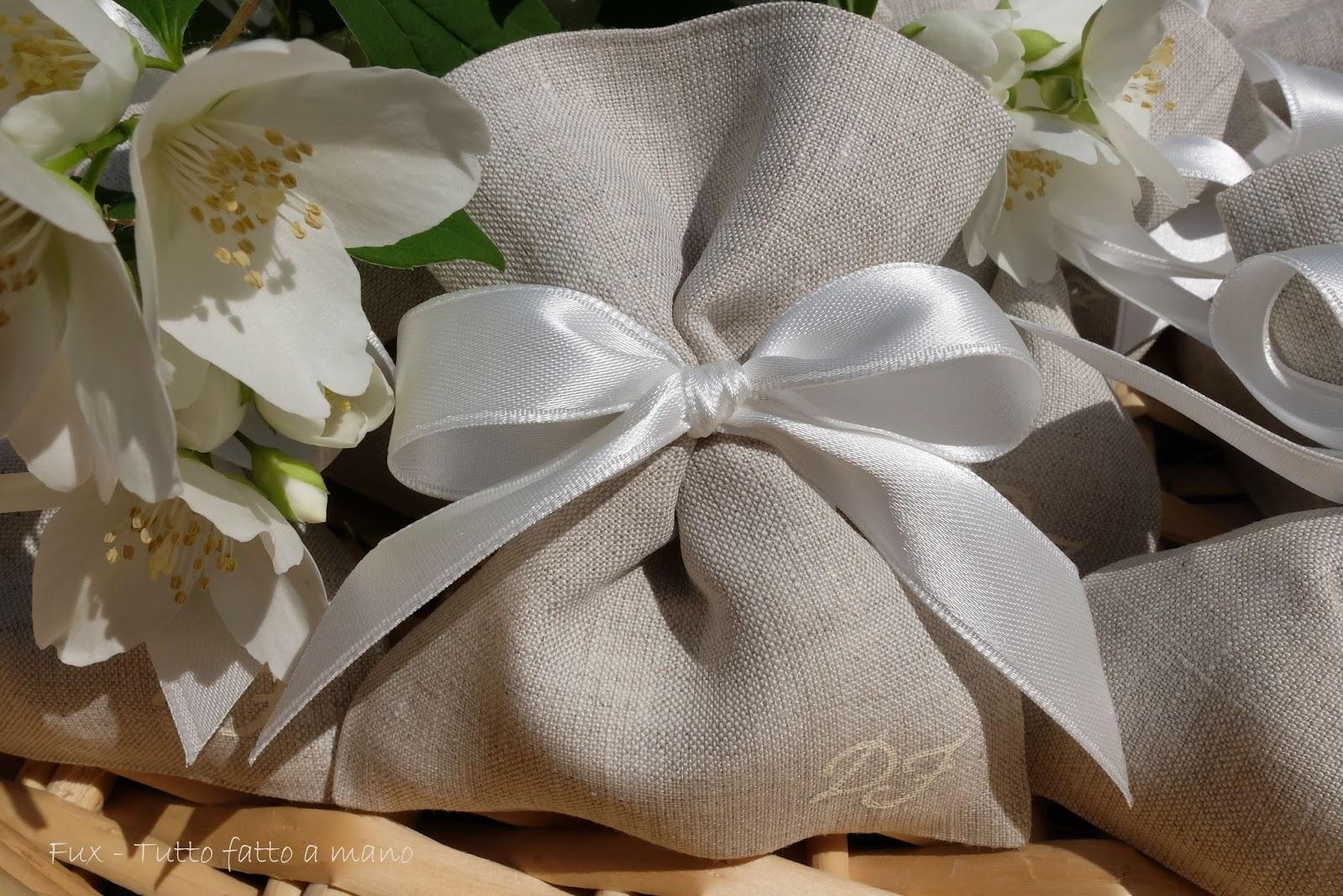 Matrimonio In Bianco : Fux tutto fatto a mano matrimonio lino ecru e raso bianco