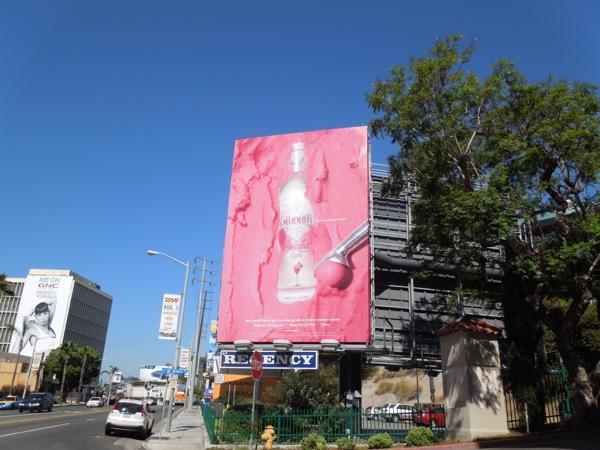 Pink Smirnoff Sorbet Light billboard
