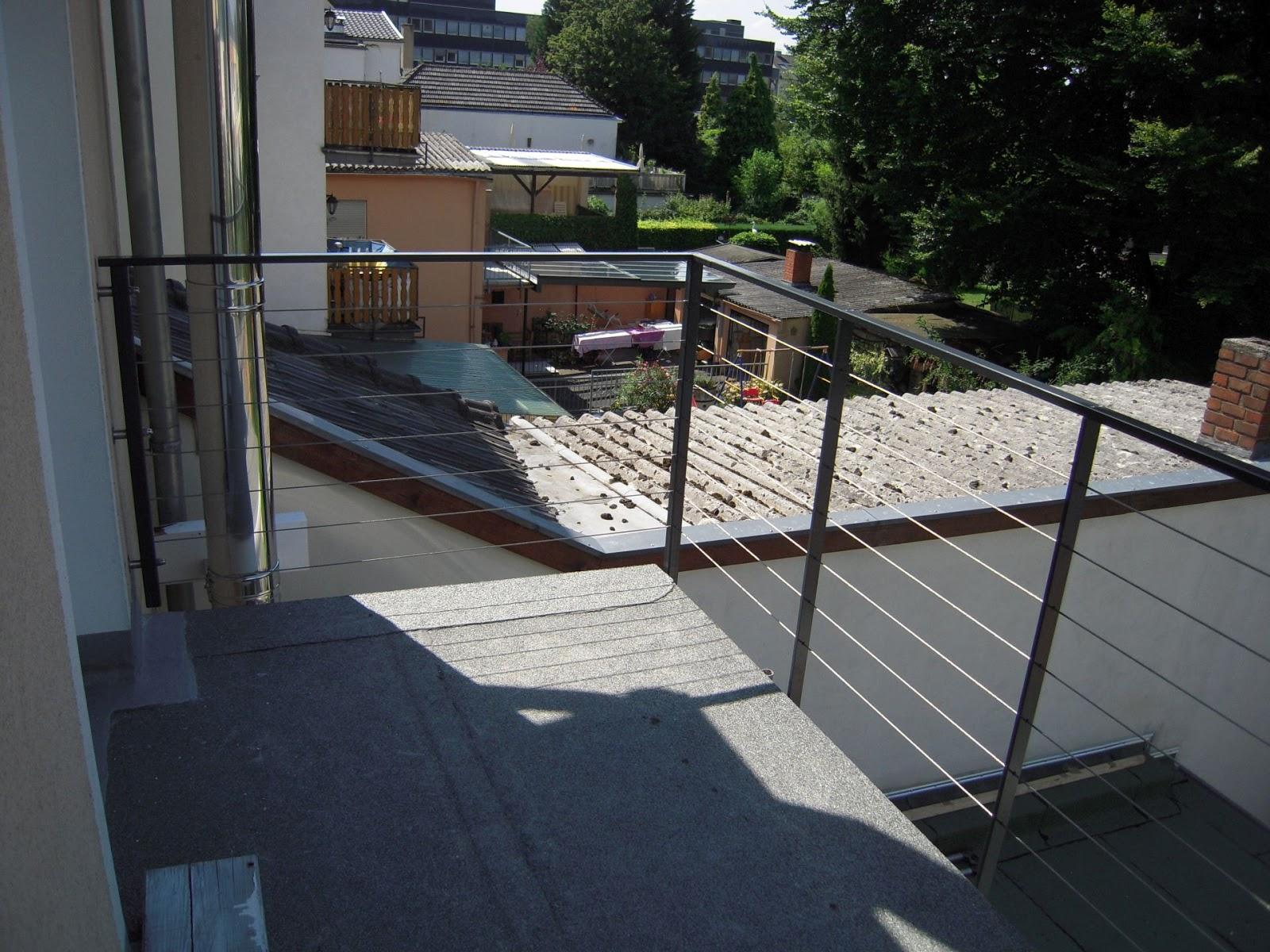 balkongel nder mit seilen fr bel metallbau. Black Bedroom Furniture Sets. Home Design Ideas