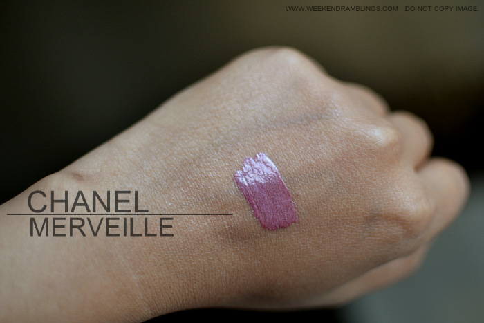 Chanel Rouge Allure Extrait de Lipgloss Merveille 69 Indian Beauty Blog Review Swatch FOTD Printemps Precieux Spring 2013 Makeup Collection