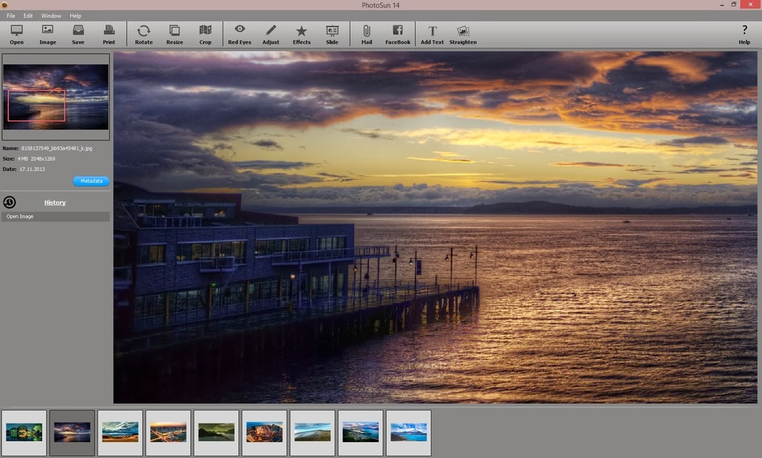 برنامج مجاني إحترافي لتحرير وتحسين ومعالجة الصور وإضافة التأثيرات عليها PhotoSun 14 v2.0