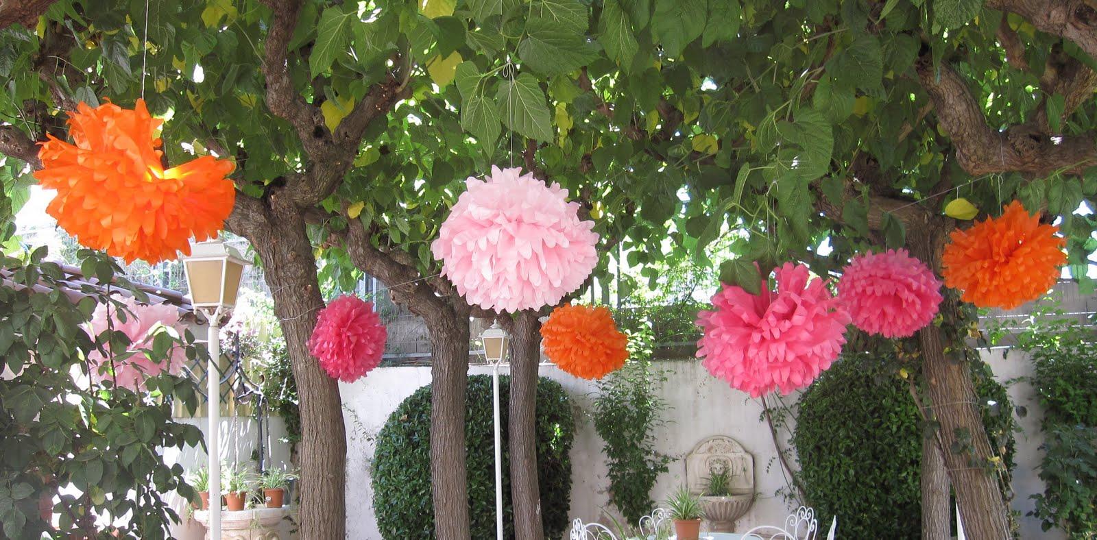 Mardefiesta pompones de papel de seda - Pompones con papel de seda ...