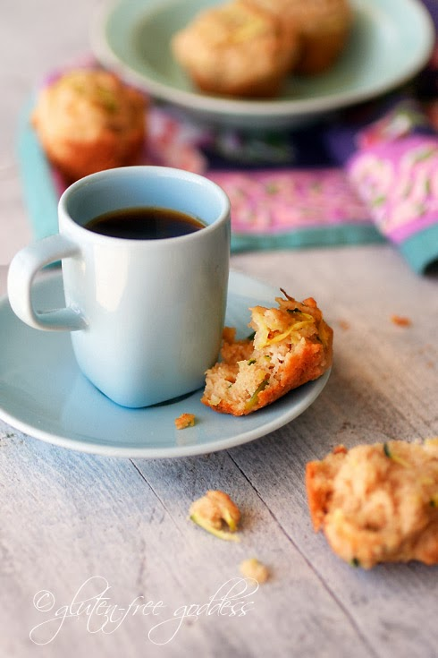 Just sweet enough, gluten-free zucchini mini-muffins with espresso.
