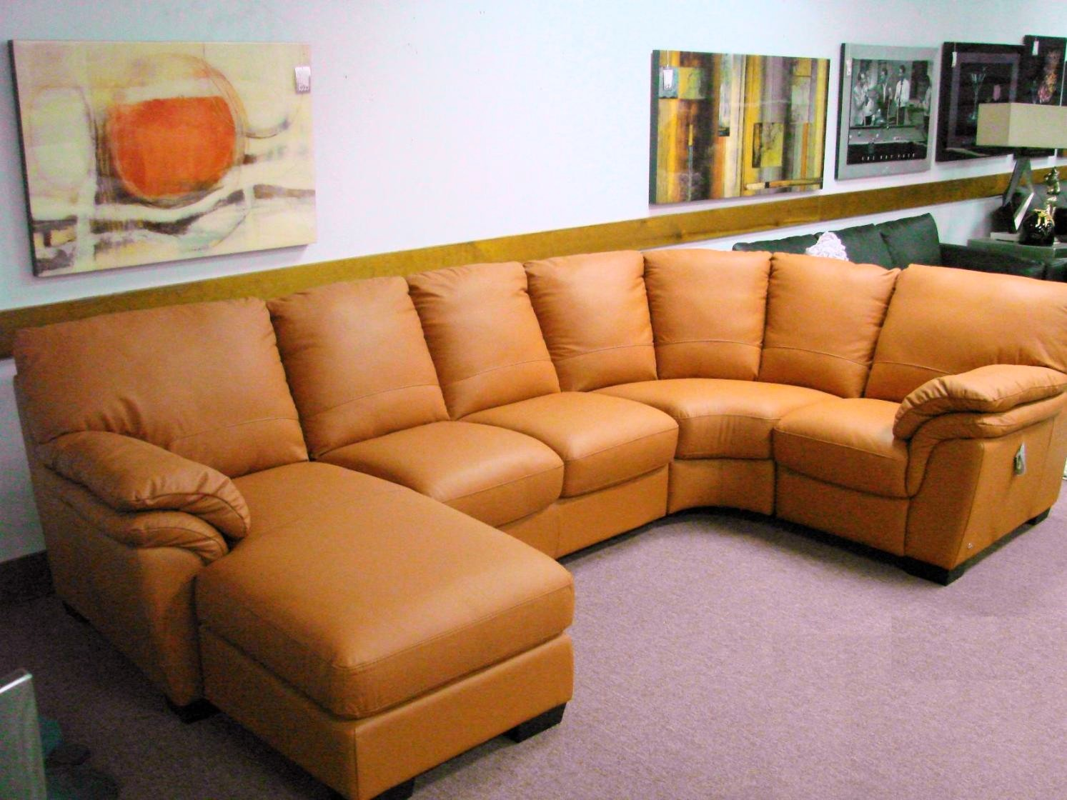 Natuzzi Leather Sofas U0026 Sectionals By Interior Concepts Furniture: Orange  Leather Sofa By Natuzzi Editions