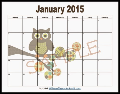 HelpingmomsHome  Creative  Monthly Calendar Printables