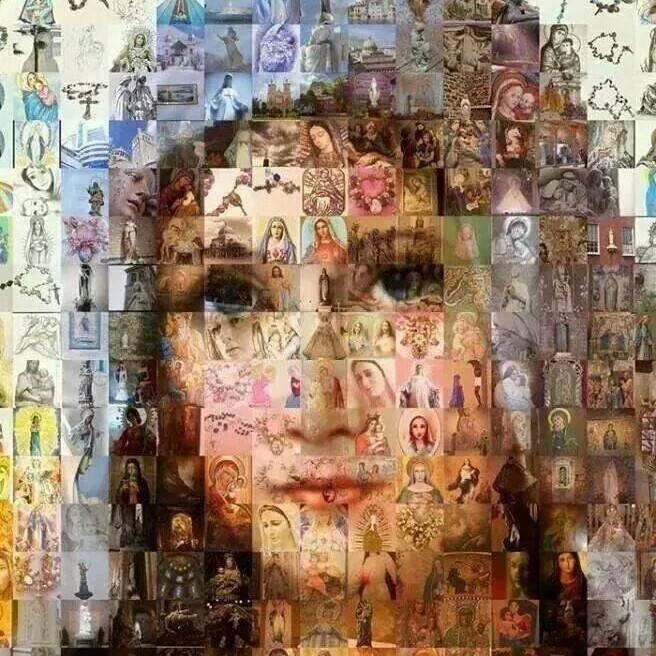 Entre las mas bellas la Reina de Cielos y Tierra