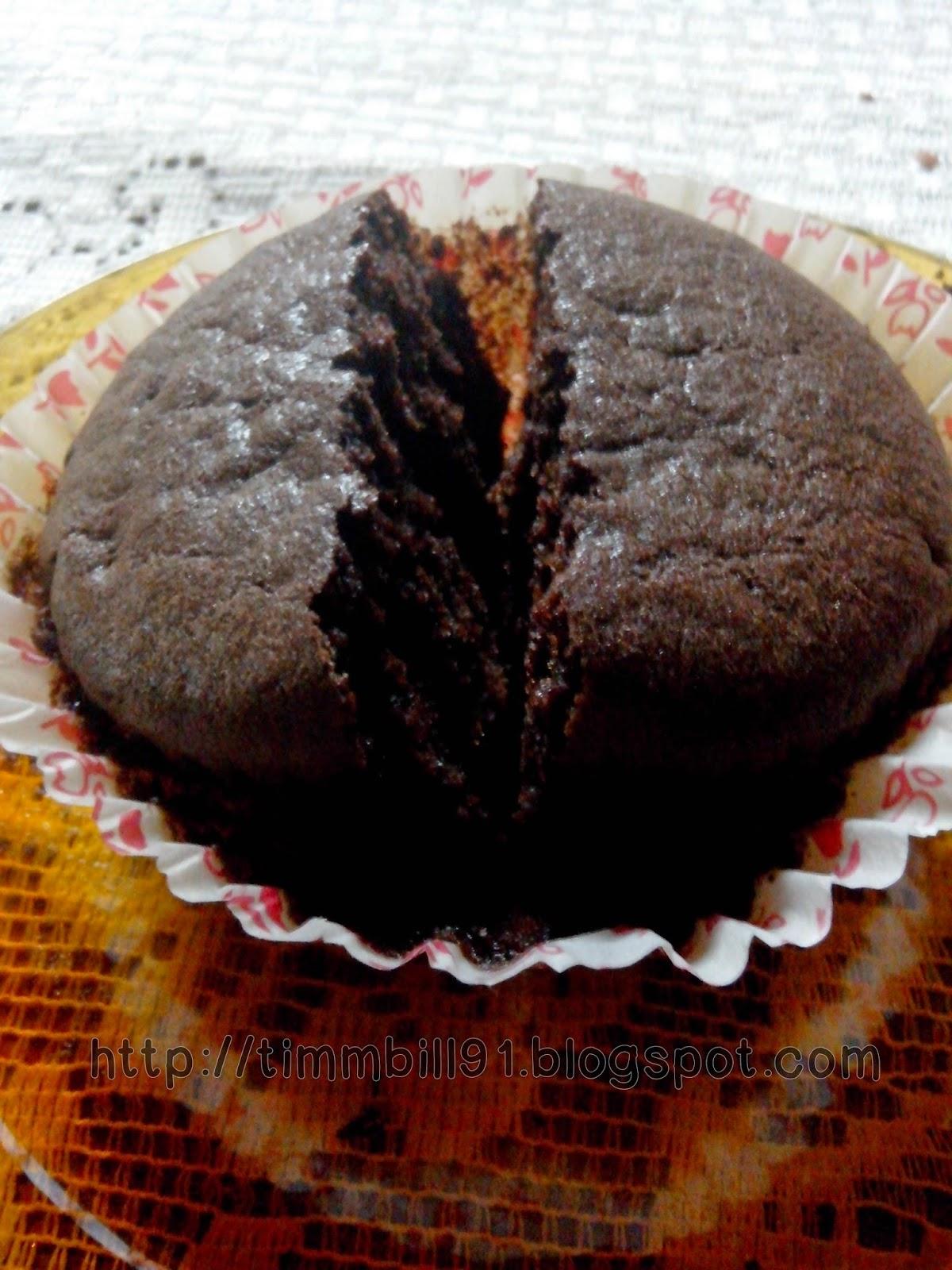 kek coklat simple, sedap