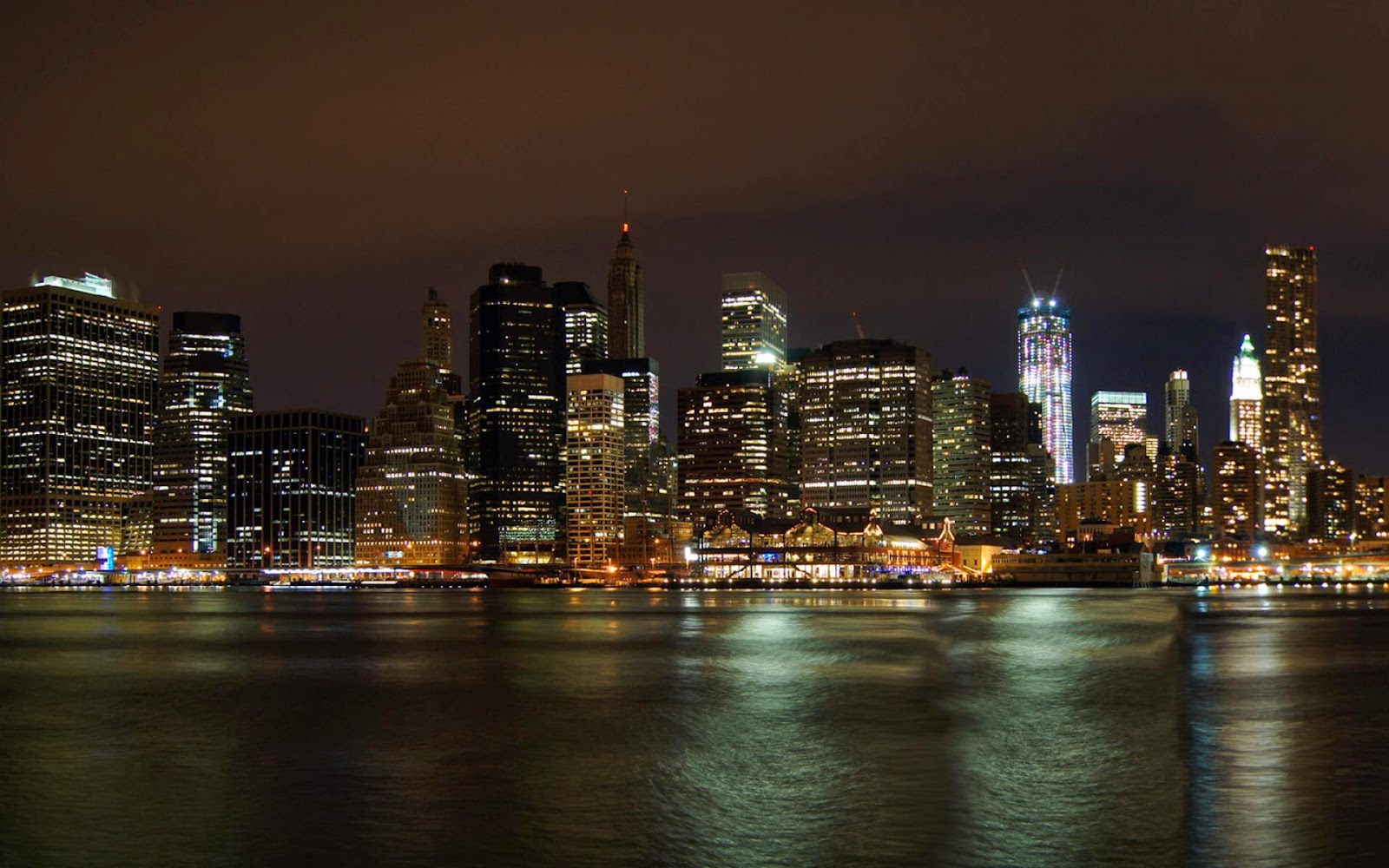 New York Night City Wallpaper