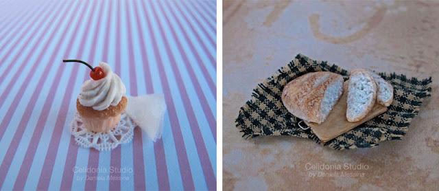 Mini food - Cupcake e Pagnotta - ADMI ad Abilmente - Miniature by Celidonia