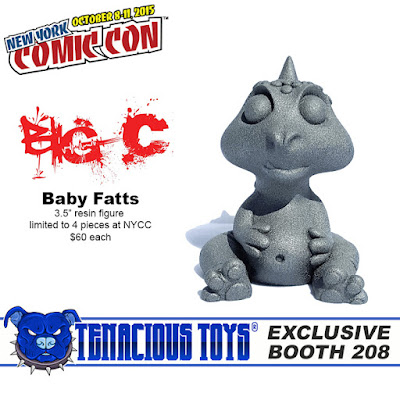 """New York Comic Con 2015 Exclusive """"Stone Idol"""" Baby Fatts Resin Figure by Big C"""
