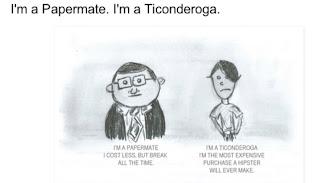 "Papermate/Ticonderoga"""