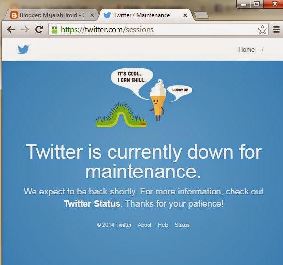 Twitter mengalami gangguan masalah login