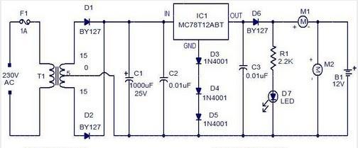 Schema Electronique Gratuit Montage  Chargeur De Batterie