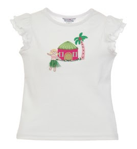 girls hula girl clothing t-shirt