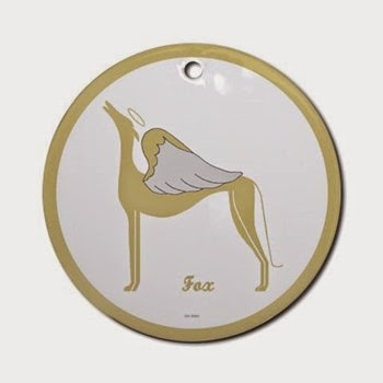 Fox Greyhound Angel Ornament