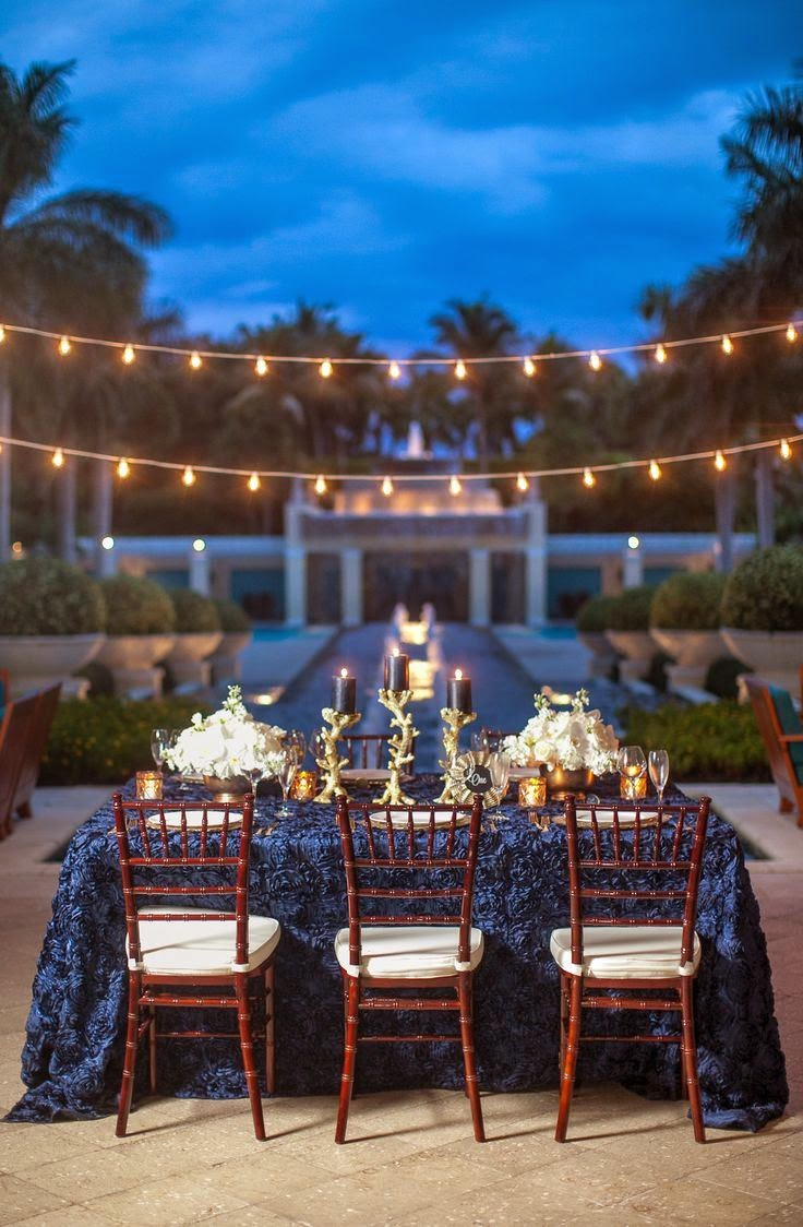 Evening Wedding Decoration Outdoor Lighting