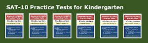 Click the image below to preview practice tests for KG (math, reading, language, and environment).