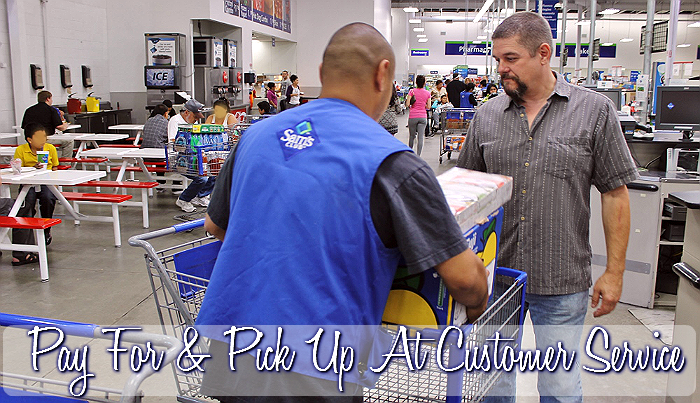 With Click N' Pull a friendly @SamsClub associate brings our order to customer service, where we pay for and complete our transaction. #TrySamsClub today and experience it yourself! #Shop