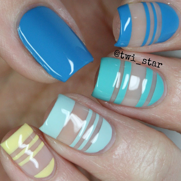 Julep Nail Vinyls negative space nail art mani