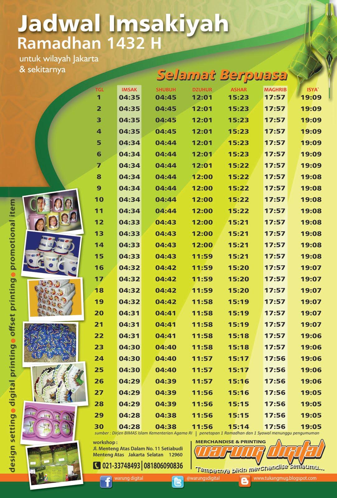 Image Result For Jadwal Imsak Ramadhan