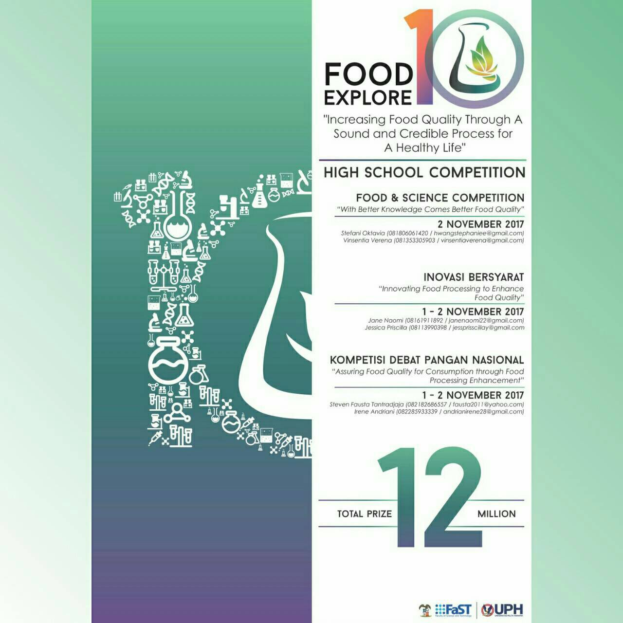 Food Explore 10 High School Competition 2017