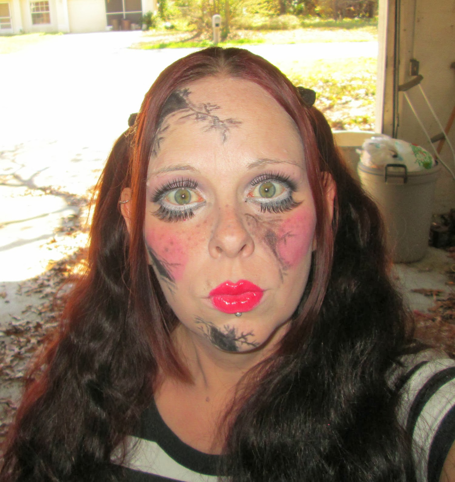 Terrors tragedies creepy porcelain doll makeup tutorial i was a little bored today and i had been toying with the idea of doing another full halloweenhorror type makeup not gonna do a full tutorial on this one baditri Image collections