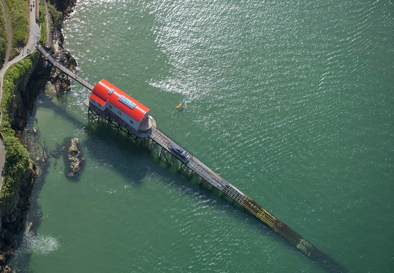 The lifeboat shed in the coastal town of Tenby, Wales.