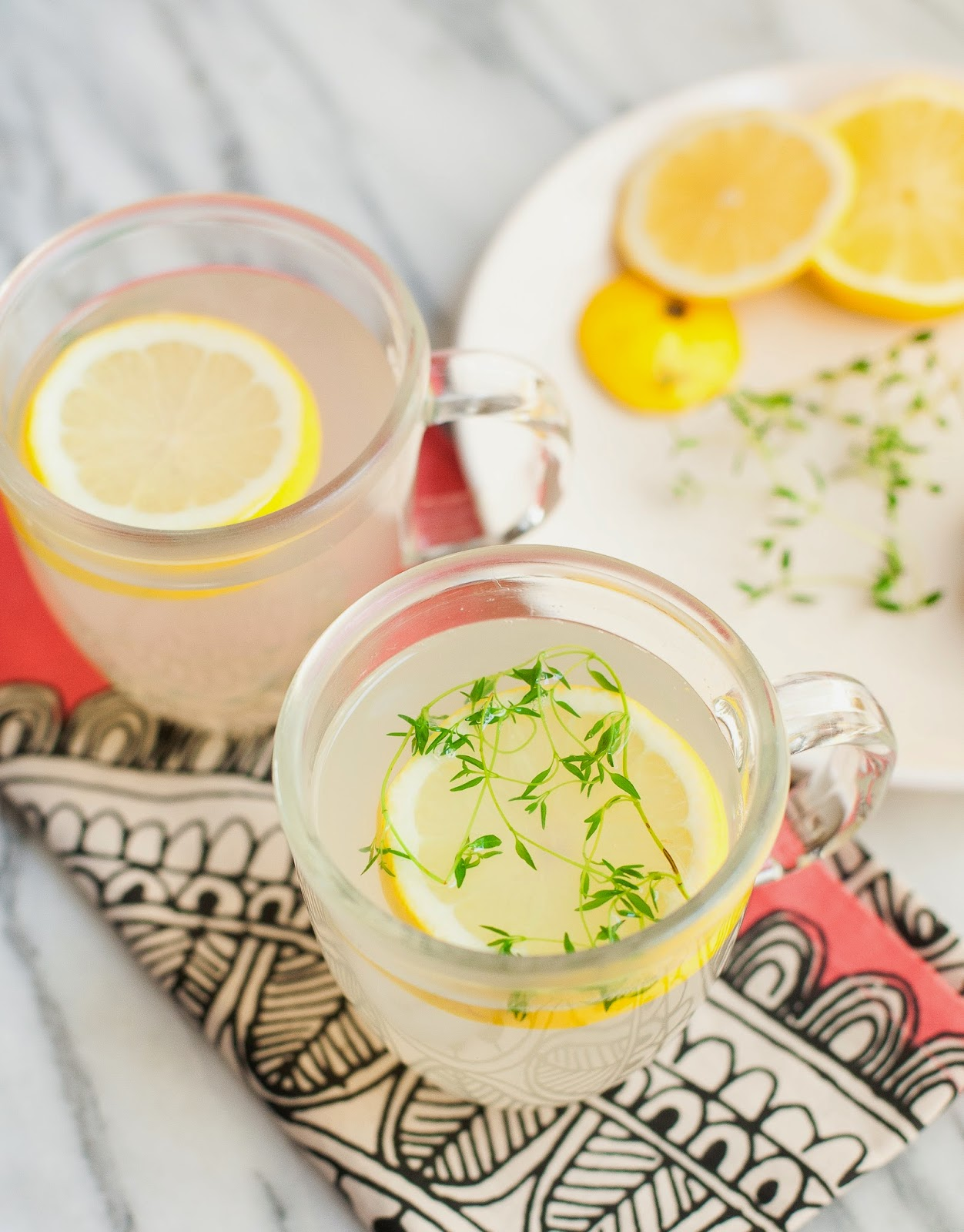 Ginger Thyme Tea | acalculatedwhisk.com