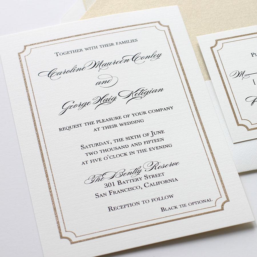New Design: Classic Glam Wedding Invitations | Blush Paperie