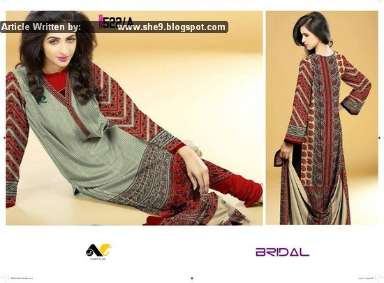 Ajwa Bridal Classic Lawn Collection 2015 Vol. 2