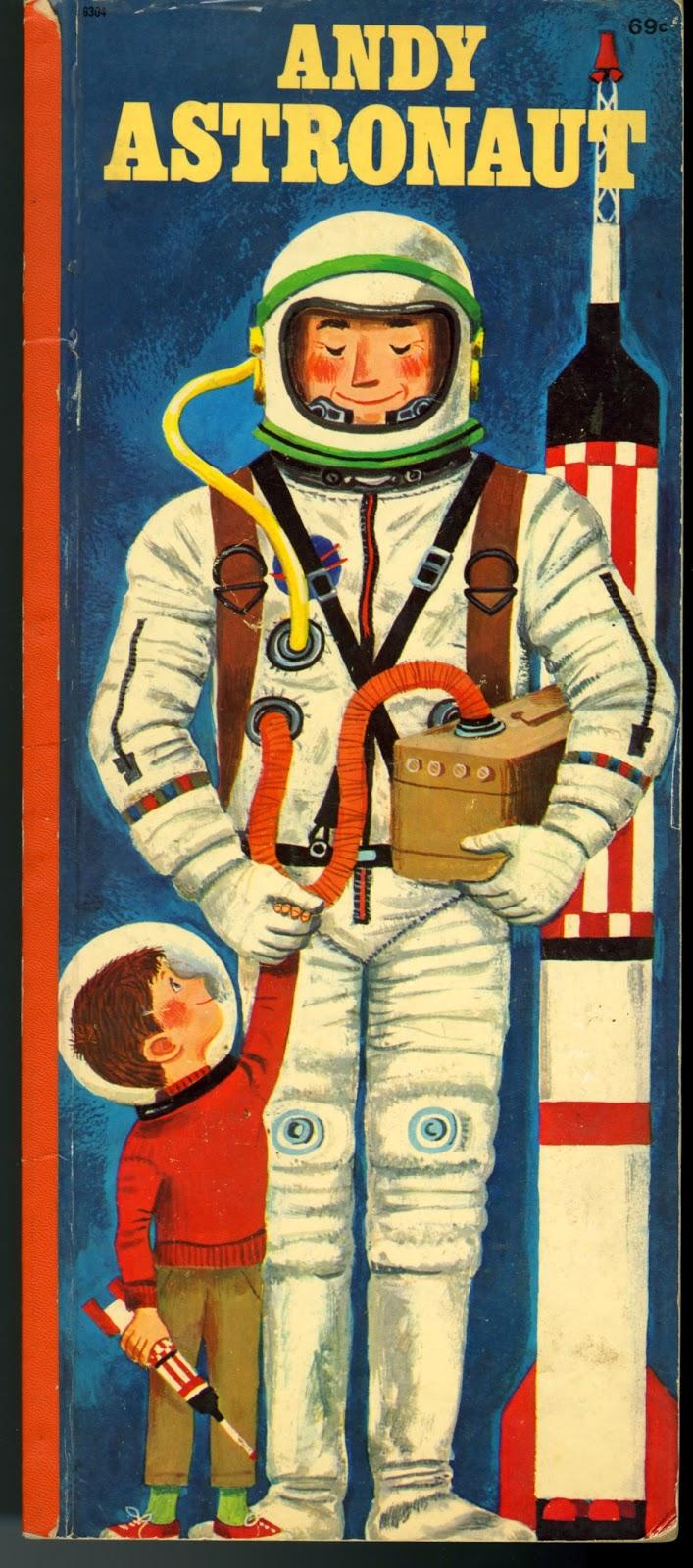 This Book Concerns Astronaut Vintage Illustration