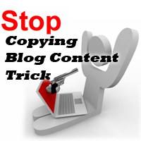 Stop copying blog content with css
