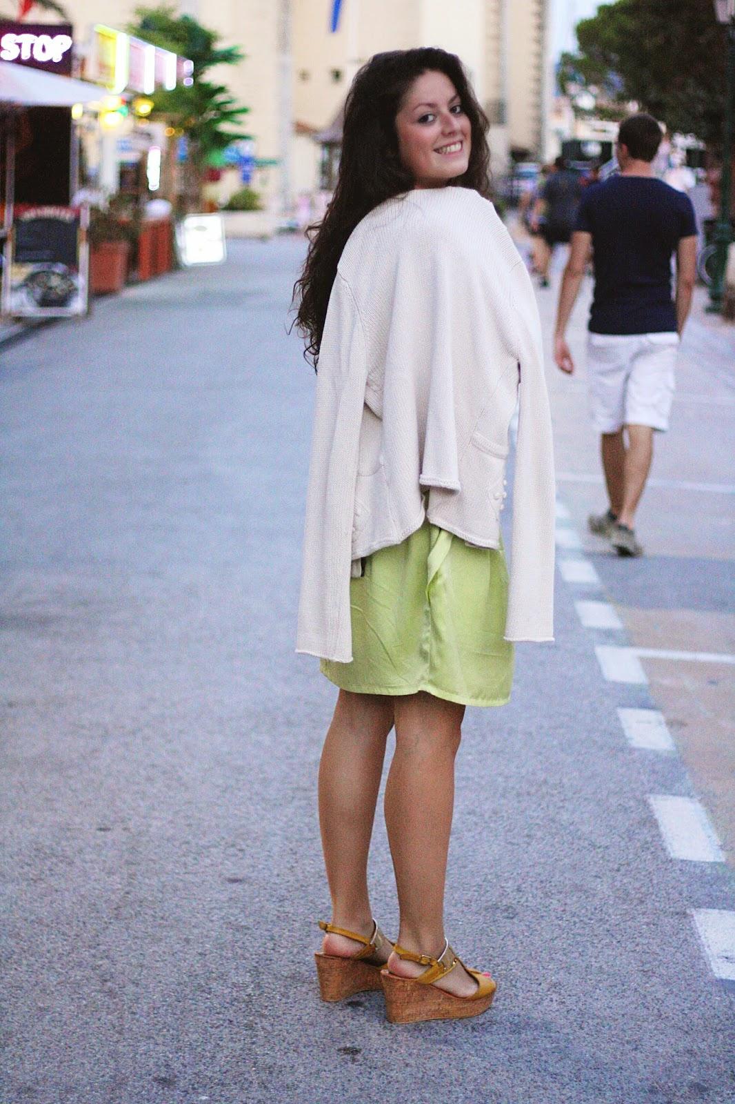 robe verte pastel ootd tenue