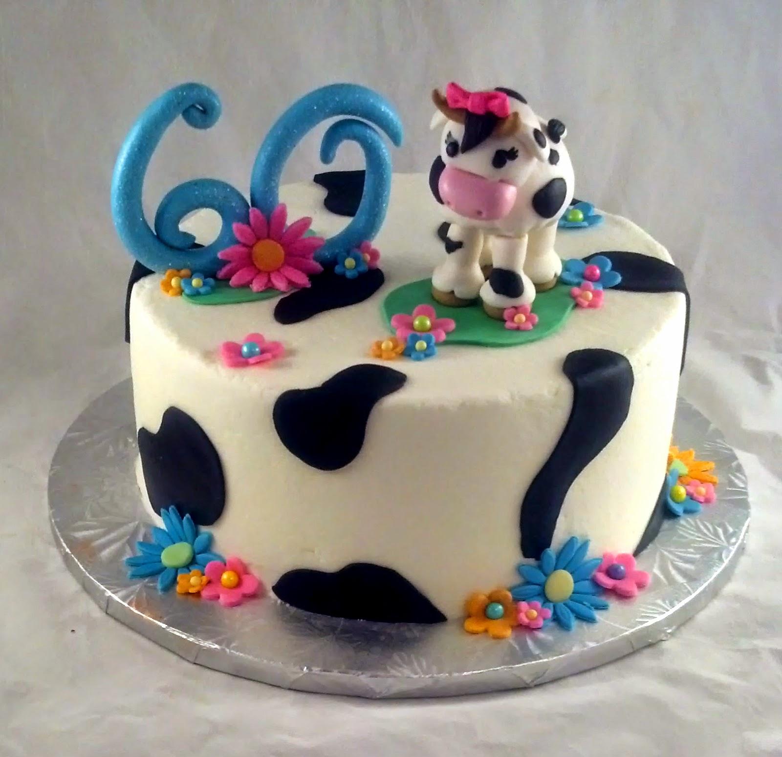 Sugar Spice Sweets Cow Birthday Cake