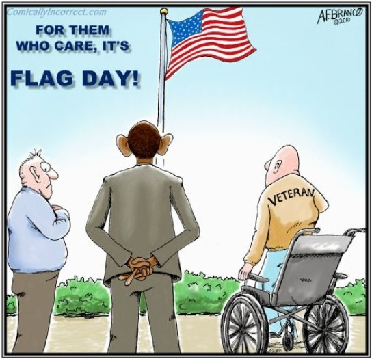 Cartoon Flag Day Under Obaka