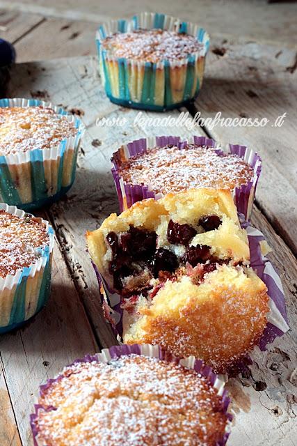 ricetta muffin ai mirtilli rossi