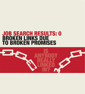 Job search - broken links - broken promises
