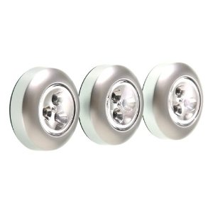 Fulcrum 30010 301 led battery operated stick on tap light silver 3