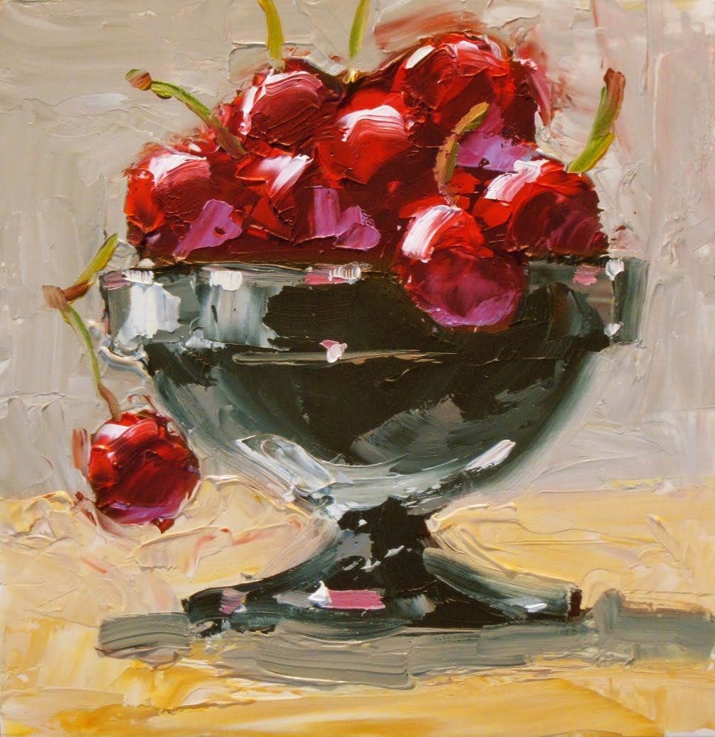 Tom Brown Fine Art A Bowl Of Cherries By Tom Brown