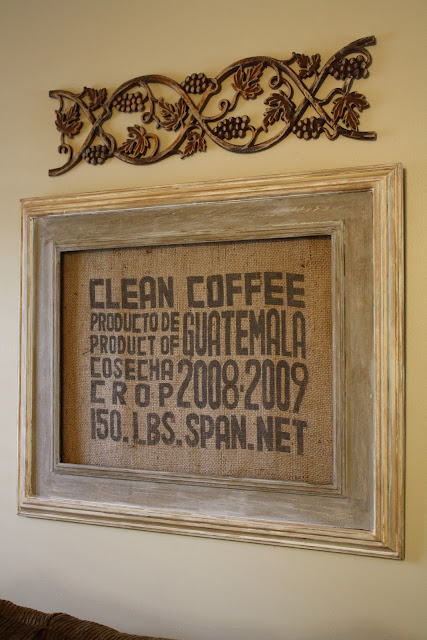 Coastal charm burlap coffee sacks rock Burlap bag decorating ideas