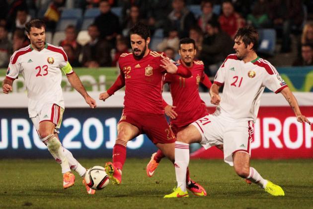Kèo thơm bóng đá Belarus vs Tây Ban Nha