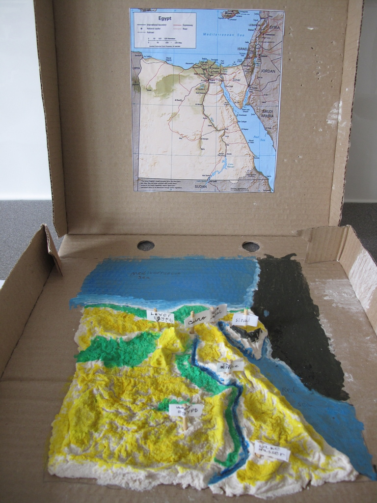 As You Walk By The Way Salt Dough Map Of Egypt - Map of egypt 3d