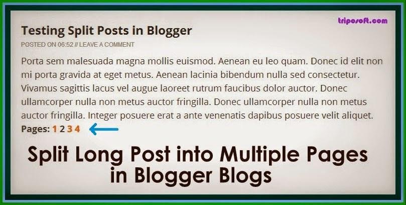 Cara Membagi Tulisan Panjang Menjadi Dua Bagian di Blog