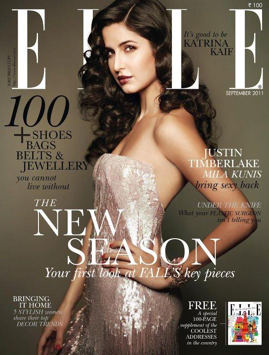 Katrina Kaif - Katrina Kaif On Elle Magazine Cover September 2011 Edition