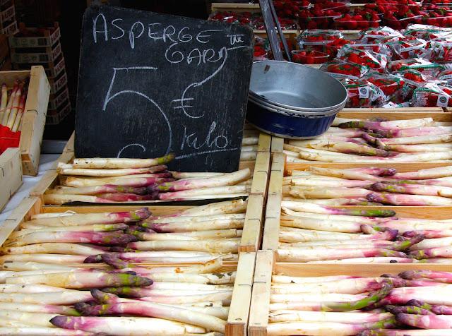 white asparagus nice france