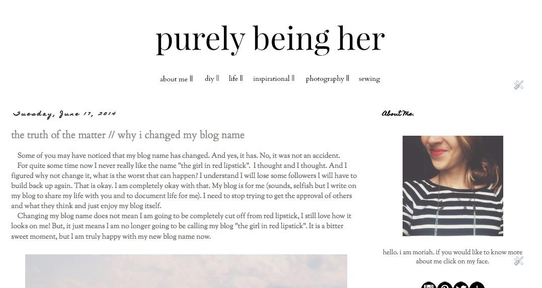 http://purelybeingher.blogspot.com/