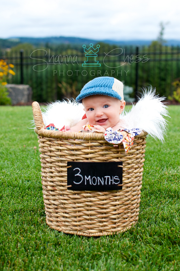 eugene or baby photography 3 months basket